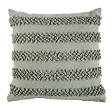 BrylaneHome Pom Pom Textured Decorative Pillow (Grey,0)