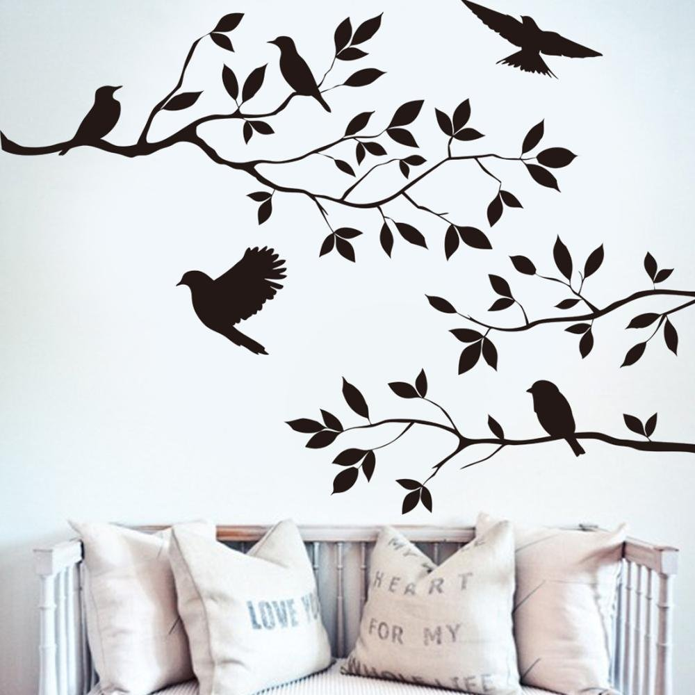 Amazon Tree Branches Wall Decal With Birds Vinyl Sticker