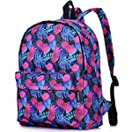"""Lily & Drew Lightweight Travel Backpack for Women and Teens 17 MEDIUM size 15-inch backpack. Please note there are two sizes: small and medium. This medium-sized backpack is 15.5"""" tall x 11.5"""" wide x 6.3"""" deep. Binders, folders and laptop computers will fit. See pictures and description for reference and further details. POCKETS. Two side pockets for water bottles, sun-glasses, etc. Front zippered pocket for small items such as pens, phone, etc. Large main compartment with heavy-duty double zippers for big items such as laptop, binder, books, notebook, folder, and more. PERFECT for laptop. Convenient internal sleeve is ideal for a 14-inch laptop computer, tablet or iPad. Perfect fit for MacBook, MacBook Air or MacBook Pro 13-inch. Maximum laptop size is about 13-1/2"""" x 10"""" x 1"""" thick."""