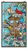 Amia Songbird and Cardinal Glass Window Décor Panel, Multicolored