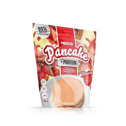 Pancake + Protein: Tortitas de avena con proteína 900 g Tarta de queso con fresas