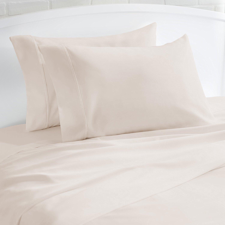 500 Thread Count 100/% Cotton Sheet Sand Twin Sheet Set,3-Piece Long-staple Combed Cotton Best Sheets,Breathable,Soft /& Silky Sateen Weave Fits Mattress Upto 18 Deep Pocket 1 BONUS PILLOWCASE Mayfair Linen