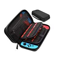 Sora Funda Negra para Nintendo Switch. Estuche/Case de Tela Color Negro para Nintendo Switch