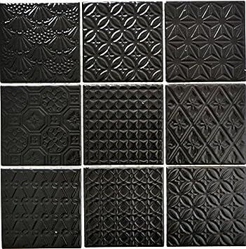 Mosaïque Rétro Vintage Pour carrelage en céramique Noir Spirit Noir ...