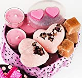 Mothers Day Gifts Set For Women - All Natural Spa Basket - Soy Candles - Organic Oil Bath Bombs - Hand Soap - Natural Body Sugar Scrub - Best Holidays Kit Idea for Mom Girls Her - Small Handmade Box