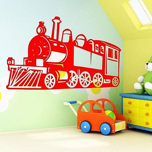 xingbuxin Divertido Tren Pegatinas de Pared extraíbles para niños ...