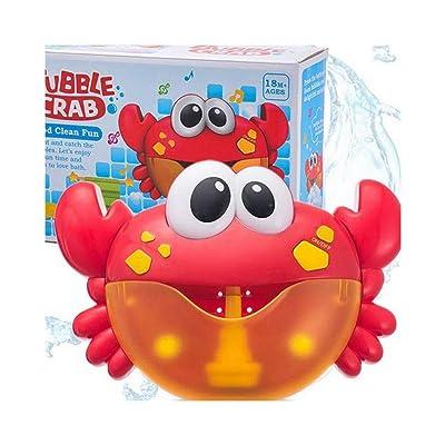 JiaJa Electric Crab Bubble Machine Bathtub Bubble Maker Light Music Baby Bath Soap Machine Toys Swiming Blower Toy Water Fun for Kids: Toys & Games