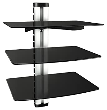 Hifi möbel wandmontage  RICOO Wandregal Glas TV Board Hifi Rack Universal: Amazon.de ...
