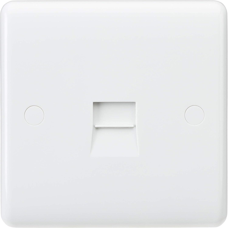 Knightsbridge Interruptor de direcci/ón con Borde Curvado CU0110 Blanco