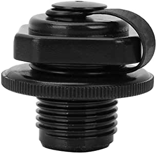 Amrka Air Valve Caps Screw For Inflatable Boat Fishing Boats Raft Airbed Outdoor Black
