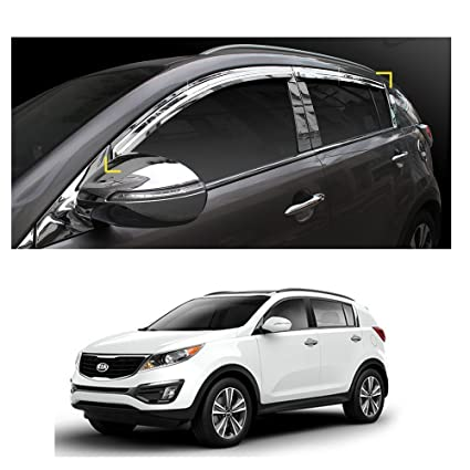 Amazon.com  Sun Chrome Side Window Visor Vent Guards Rain for Kia Sportage  2011- 2016  Automotive 53e43cf7d38