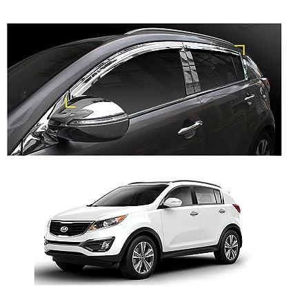 Amazon.com  Sun Chrome Side Window Visor Vent Guards Rain for Kia Sportage  2011- 2016  Automotive 53e43cf7d38