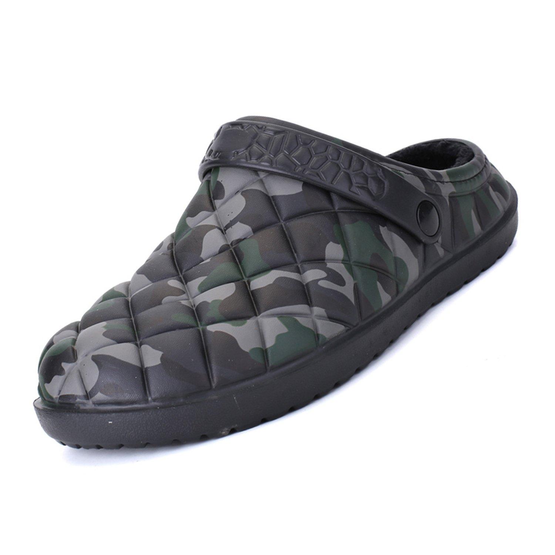 Men's Clogs Mule Fleece Indoor Outdoor Fluffy Unisex Classic Lined Slippers