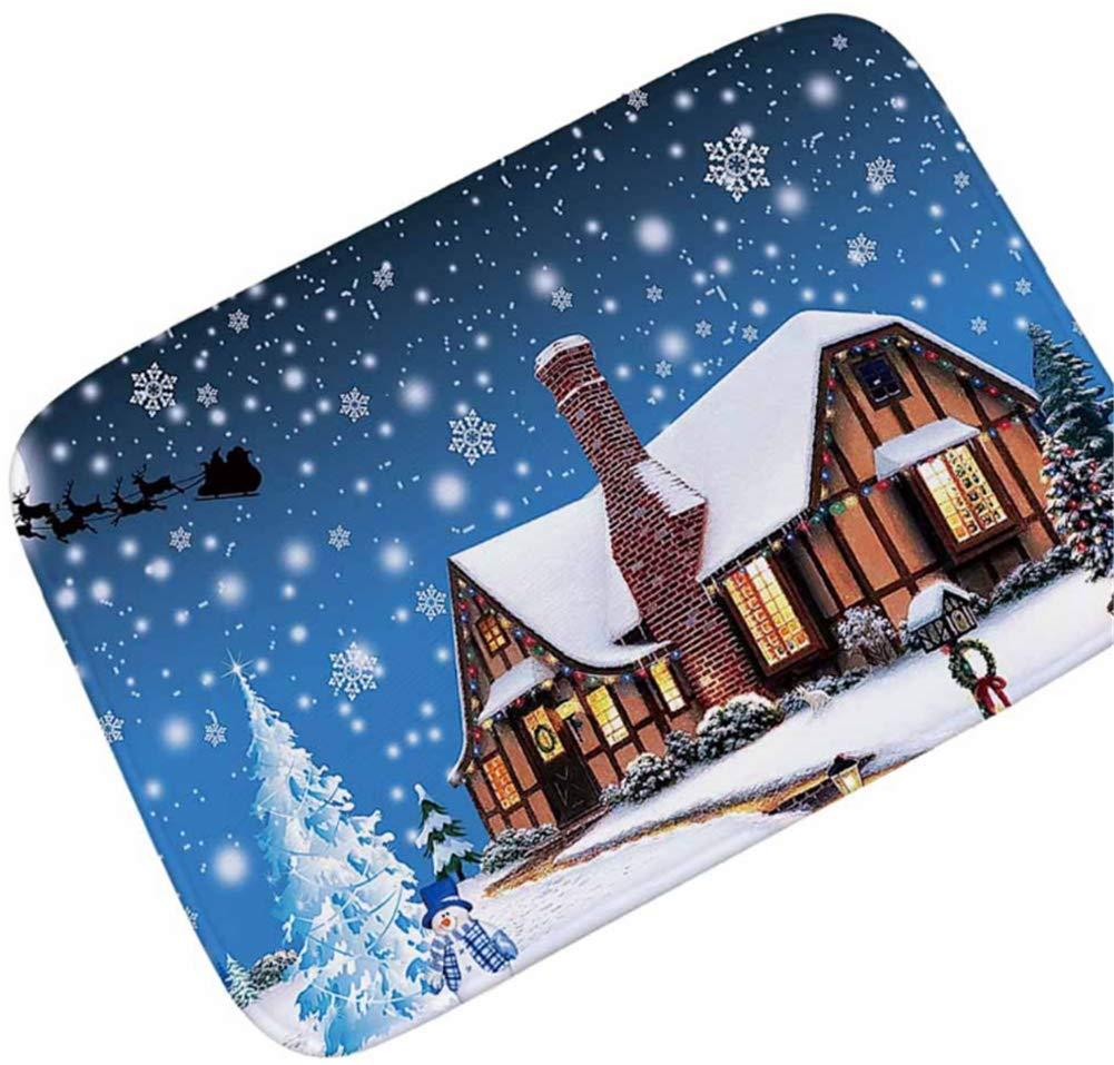 24*36 OHYESS Chic Flannel Non-Slip Christmas Xmas House Kitchen Bedroom Floor Mat Bathroom Home Indoor Area Rug Doormat