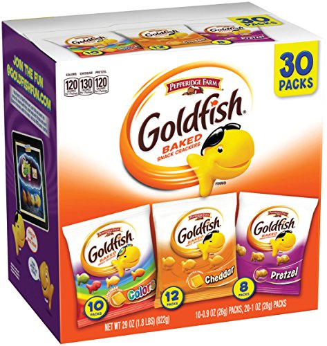 Pepperidge Farm, Goldfish, Crackers, Classic Mix, 29 oz, Variety Pack, Box, Snack Packs, Pack Of 30 -