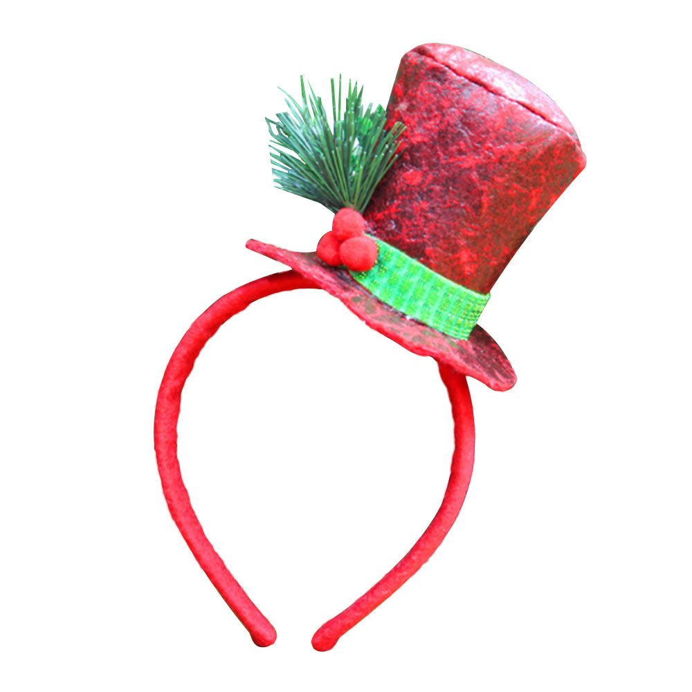 TOPmountain Novelty Lint Xmas Antler Christmas Hairband Headwear Gift Party Supplies Hair Hoop Holiday Kids Adults Kicode