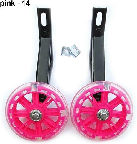 """Kid LED Bicycle Stabilisers Flashing Training Wheels Universal 12-20/"""" Child Bike"""
