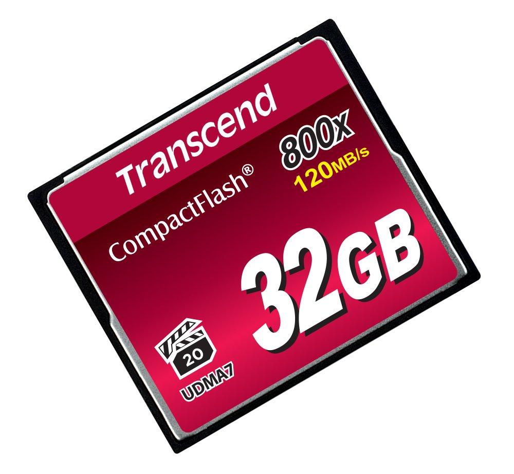 Transcend 32GB CompactFlash Memory Card 800x (TS32GCF800)