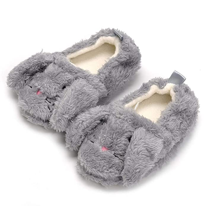 Muium Toddler Baby Girls Cartoon Animal Indoor Shoes Thick Warm Winter Slippers Sneakers Casual Shoes for 2-6 Years Old