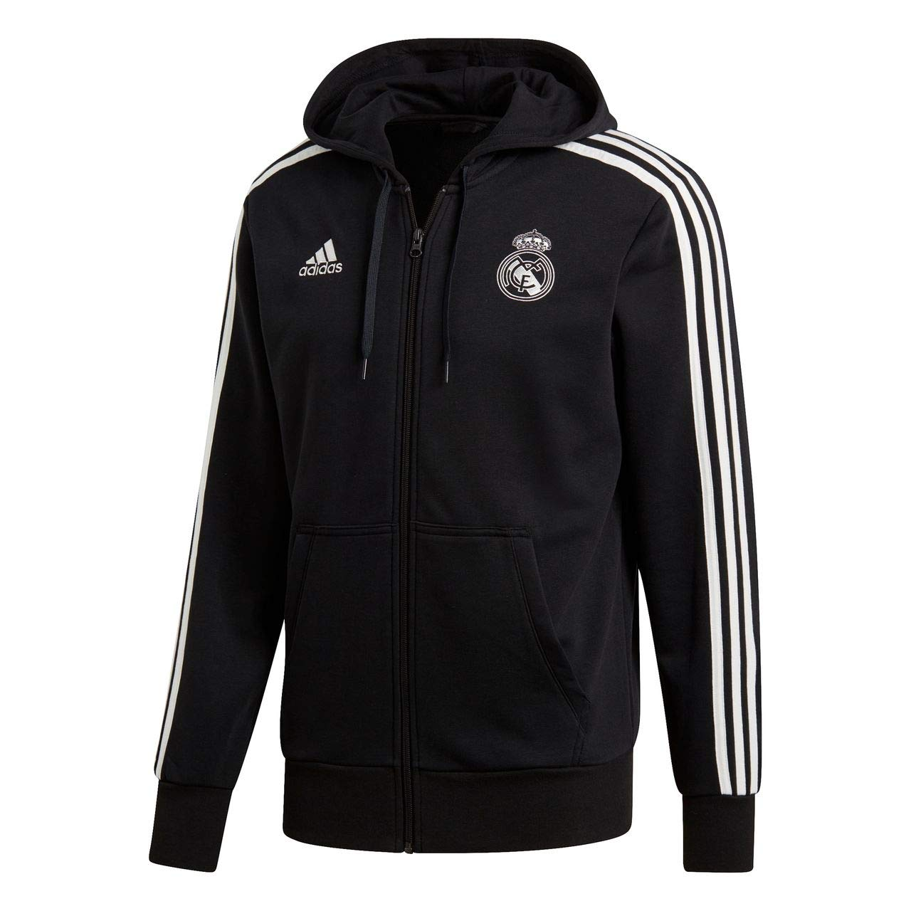 adidas 2018 2019 Real Madrid 3S Hooded Zip (Black)