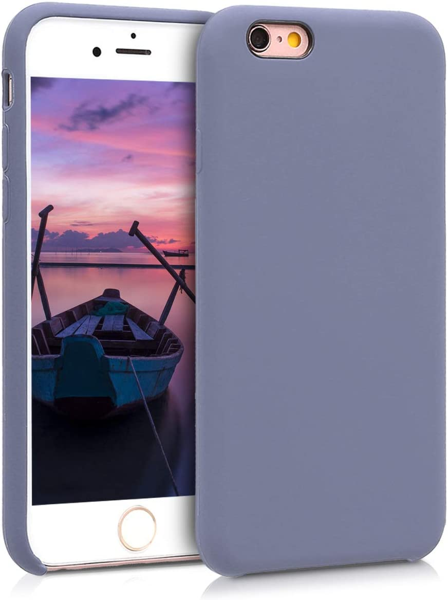 kwmobile TPU Silicone Case Compatible with Apple iPhone 6 / 6S - Soft Flexible Rubber Protective Cover - Lavender Grey