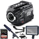 Blackmagic Design URSA Mini Pro 4.6K Professional Digital Film Camera, LyxPro CMG-50 Condenser Shotgun Microphone, SanDisk 64GB Extreme PRO Memory and Cleaning Kit