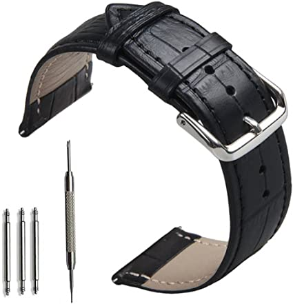 OTOPO Compatible with Galaxy Watch 46mm & Gear S3 Bands,22mm Width Leather Replacement Wrist Strap for Galaxy Watch 46mm & Gear S3 Frontier/Classic ...