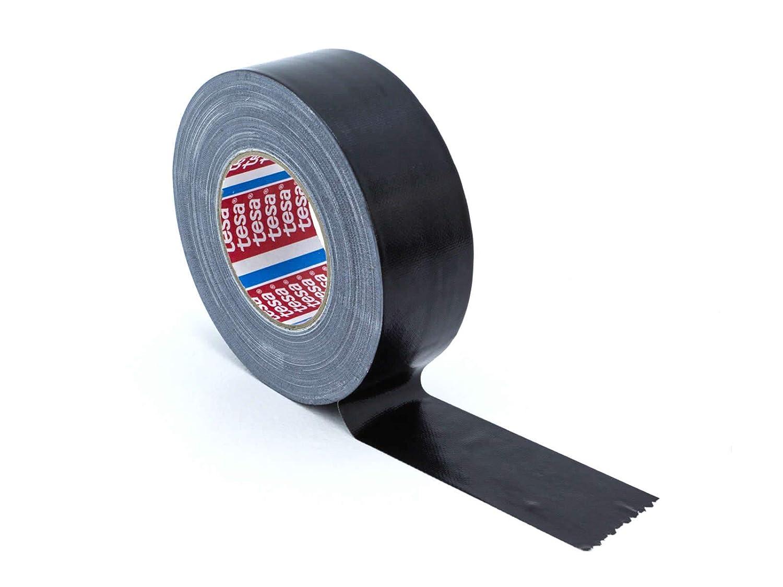 Tesa Gewebeband 50m x 0,24mm x 50mm Schwarz