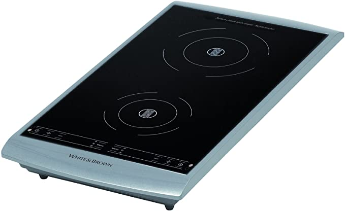 White And Brown Pc493 Table De Cuisson A Induction Posable 2