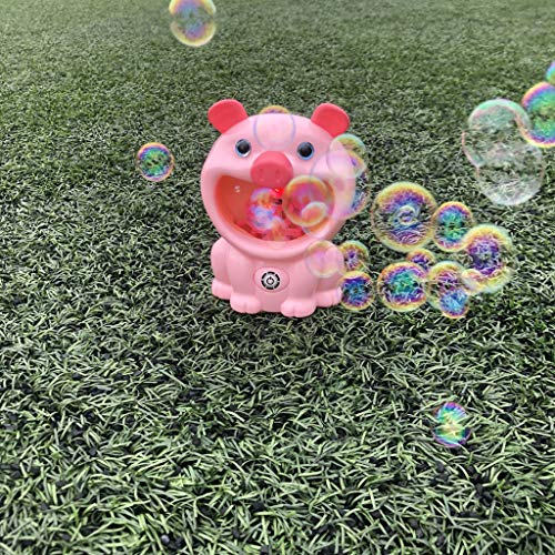 (Little Story  Educational Game, Pig Automatic Bubble Blower Maker Music Machine Bath Children Kids Outdoor Toy)