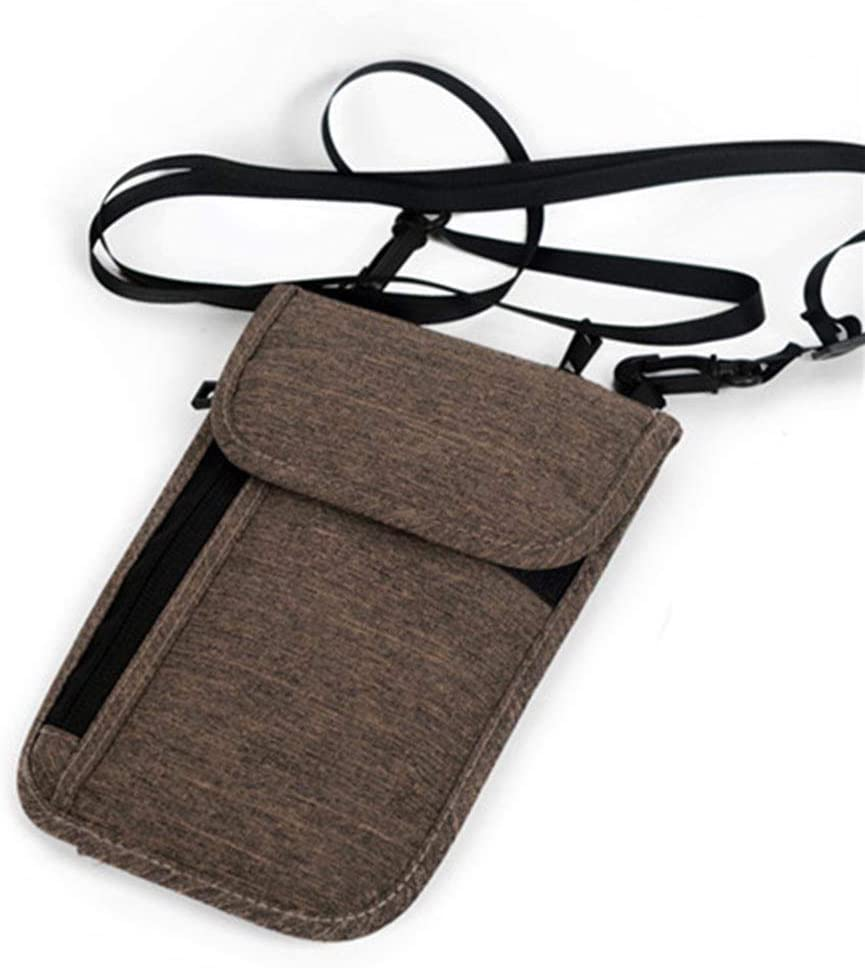 TZY Professional Passport Cover Wallet ID Credit Card Holder Storage Bag Money Clutch Carry Pouch RFID Card Holding Dark Khaki