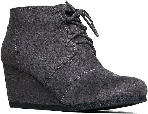 J. Adams Women's Vegan Wedge Ankle Boot