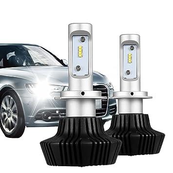 KOOMTOOM bombillas de faros LED H7 Canbus sin errores, LUMILEDS fichas 8000LM xenón blanco 70W