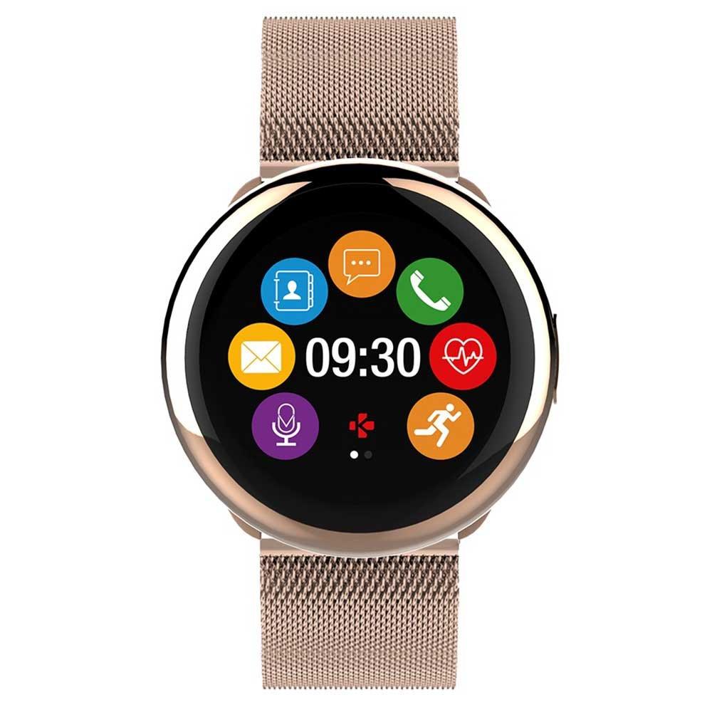 MyKronoz ZeRound2HR Elite - Smartwatch con Monitor de Ritmo cardiaco, micrófono Incorporado y Altavoz, Color Brillante Oro Rosa: Amazon.es: Electrónica