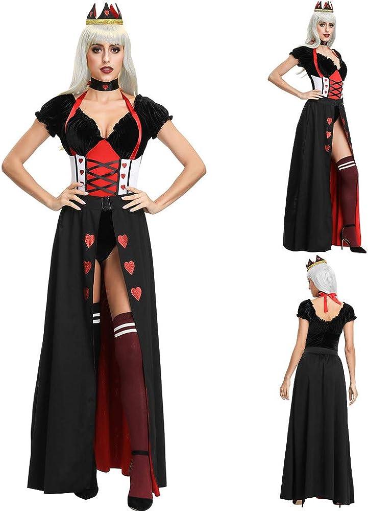 3PCs Gótico Disfraz de Reina Princesa Medieval Dress de cóctel ...