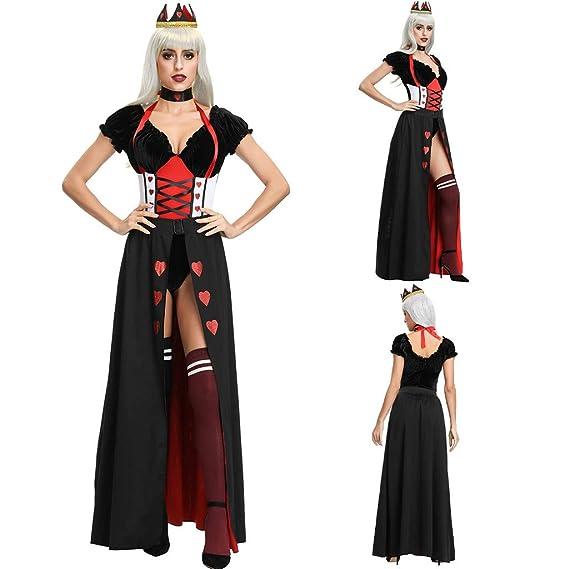 ACEBABY Disfraz Halloween Reina Demonios Vampiros Esqueleto Humano ...