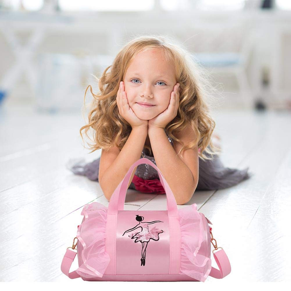 Luerme Children/'s Dance Bag Shoulder Bag Tote Bag Girls Dance Duffle Bag Ballet Latin Dance Handbag Satchel Messenger Bags for Little Girls Ballerina Kid Teen Dancer