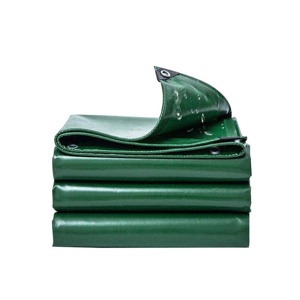 LQQGXL Wasserdichte Wasserdichte Plane der Plane doppelseitige feuchtigkeitsfeste Fracht staubdichtes Tuch LKW-Schehltuch HochtemperaturBesteändiges haltbares, Grün Wasserdichte Plane