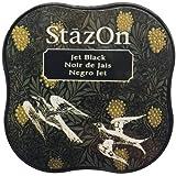 Tsukineko StazOn Midi Ink Pad, Jet Black