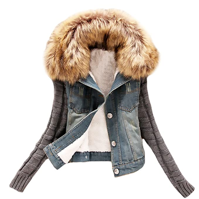 Abrigos Mujer Chaquetas Punto Invierno Corto Jacket De ...