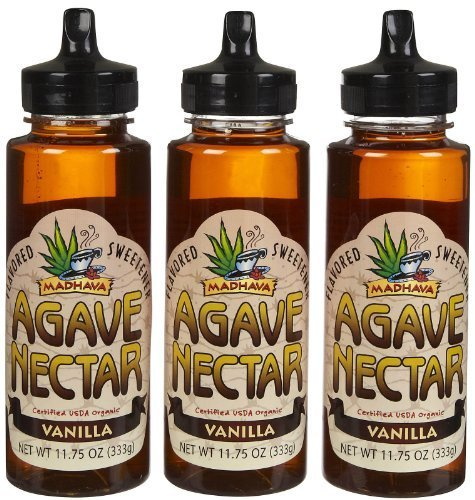 Madhava Organic Agave Nectar - Vanilla - 11.75 oz - 3 pk by -