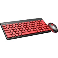 Portronics Key2-A Combo of Multimedia Wireless Keyboard & Mouse, Compact Light-Weight for PCs, Laptops and Smart TV, Black
