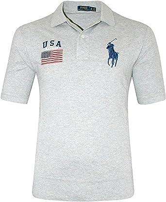 Polo Ralph Lauren Men's Custom Fit Big Pony USA Mesh Polo Shirt