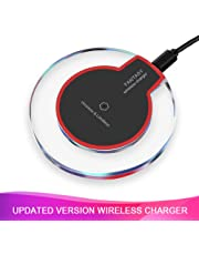 Wireless Charger, 5 W Fast Wireless Charging Stand, Qi-Certified, Compatible Phone XR/Xs Max/XS/X/8/8 Plus, Fast-Charging Galaxy S10/S9/S9+/S8/S8 Wireless Charging(No AC Adapter)