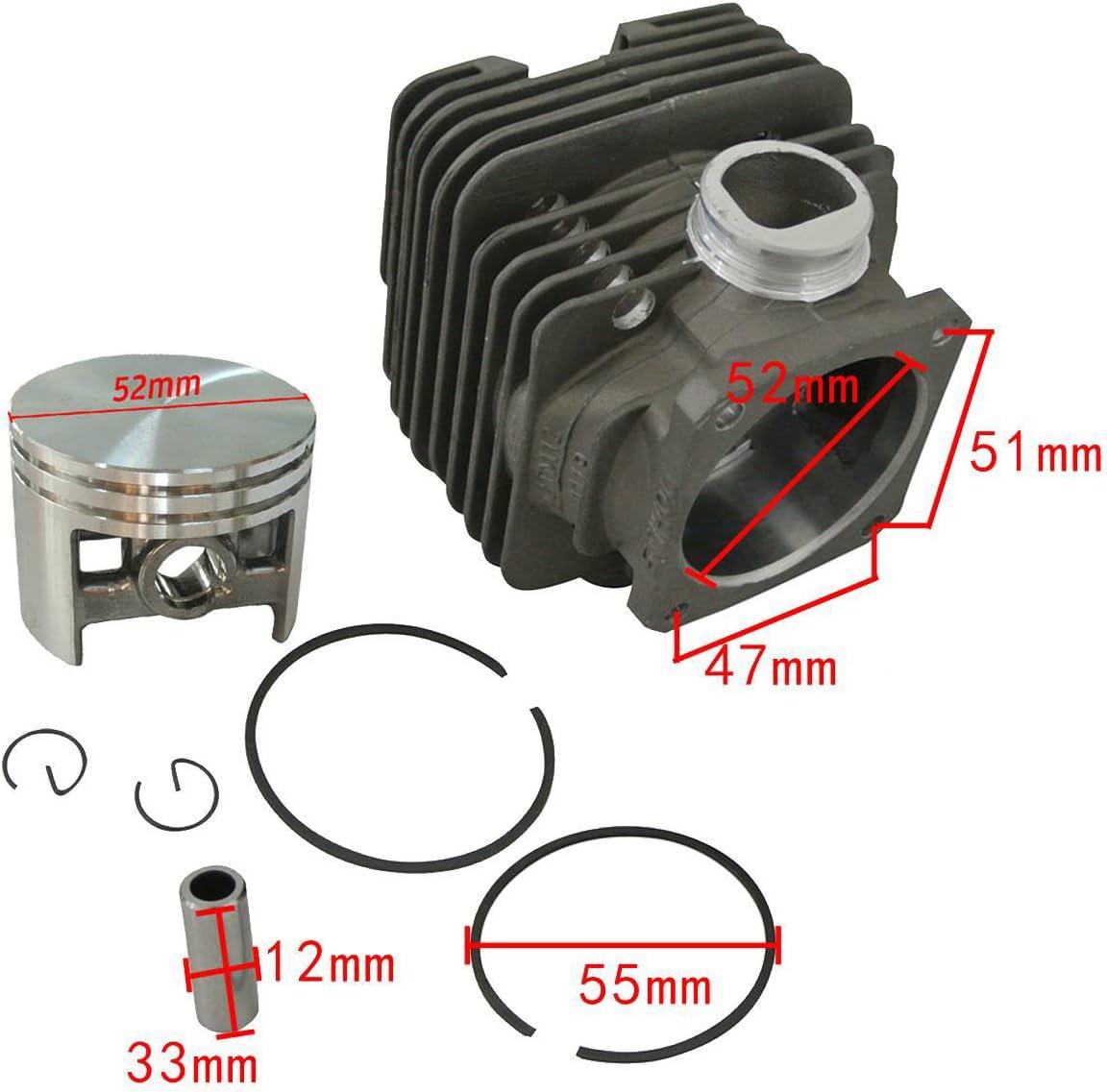 Zylinder Set passend für Stihl 038AV und 038 AV Super 50 mm Dichtsatz cylinder
