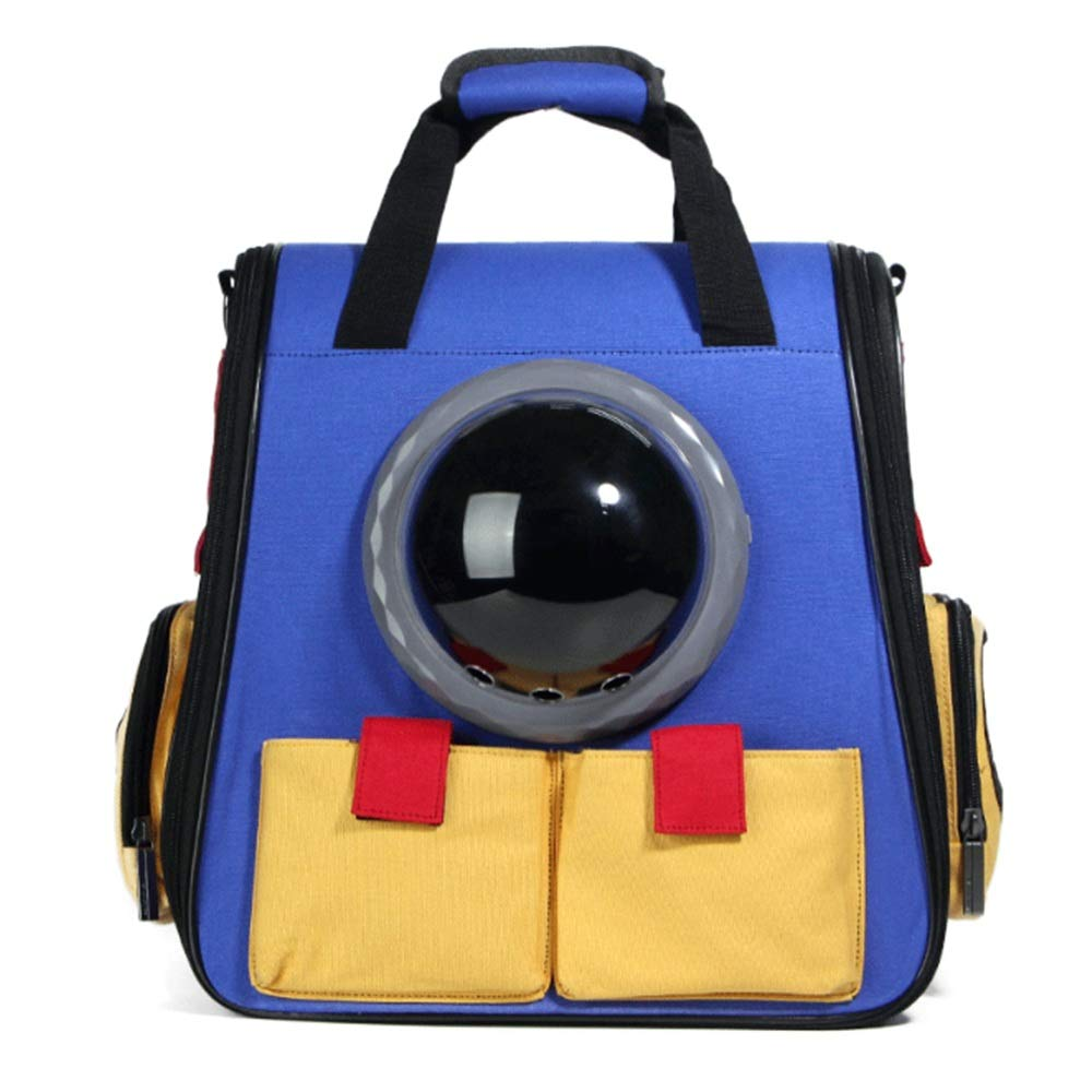 Maybesky Travel Car Pet Pet Backpack Canvas Carrier Portable Traveler Handbag Trasparente Grande Spazio Traspirante Confortevole per out Door Escursioni Shopping Viaggiare Travel Car Pet