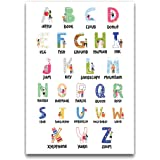 Alphabet Illustrated Educational Poster (A2 Size 594mm x 420mm)