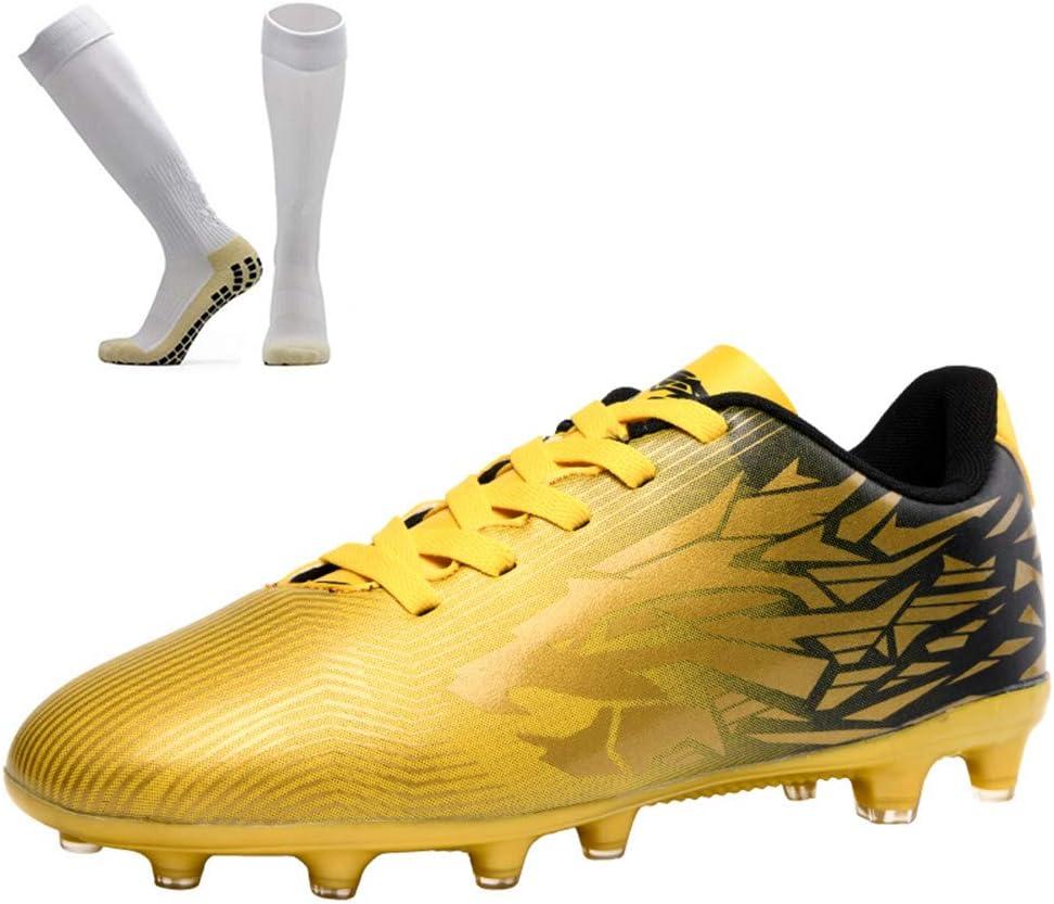 XFQ Kids' Football Boots, Teenage Student Football Training Shoes Non-Slip  Football Socks AG/TF Soccer Sneakers,Gold,39EU: Amazon.co.uk: Kitchen & Home