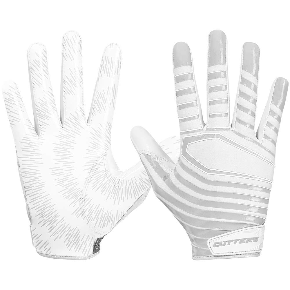 Cutters Gloves S252 Rev 3.0 Receiver Gloves, White, Large by Cutters