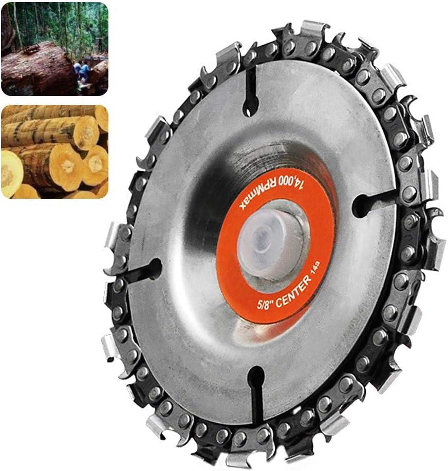 SANTITY Grinder Chain Disc 4 Inch 22 Tooth Grinder Disc Chain Plate Chain Disc Angle Grinder for Woodworking Carving Chain Plate/ï/¼/ˆOrange/ï/¼/‰